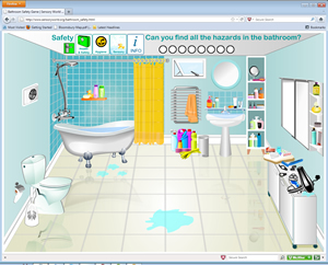 and safety in the bathroom sensory world and sensory rooms flash interactive house site map - In The Bathroom