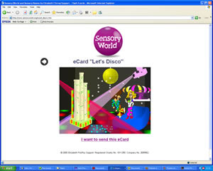 Sensory World -  Flash animated E-card